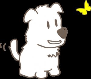 子犬のイラスト