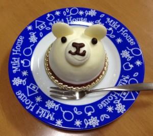 白くまのケーキ