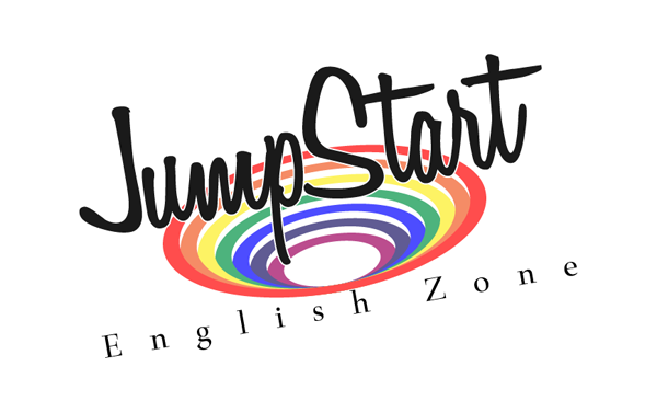 JumpStart英語教室のロゴ(カラフル・レインボーカラー)